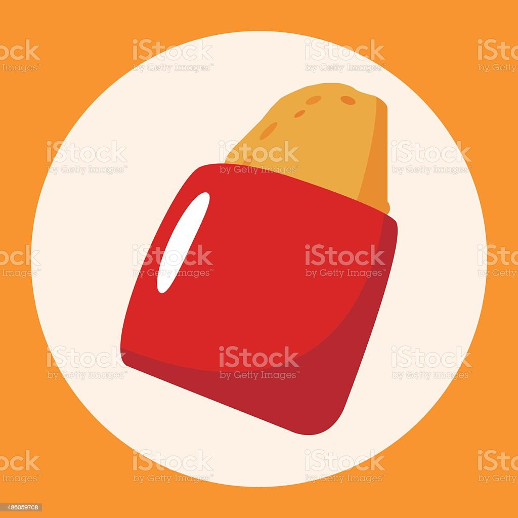 fast foods hashbrown theme elements vector art illustration