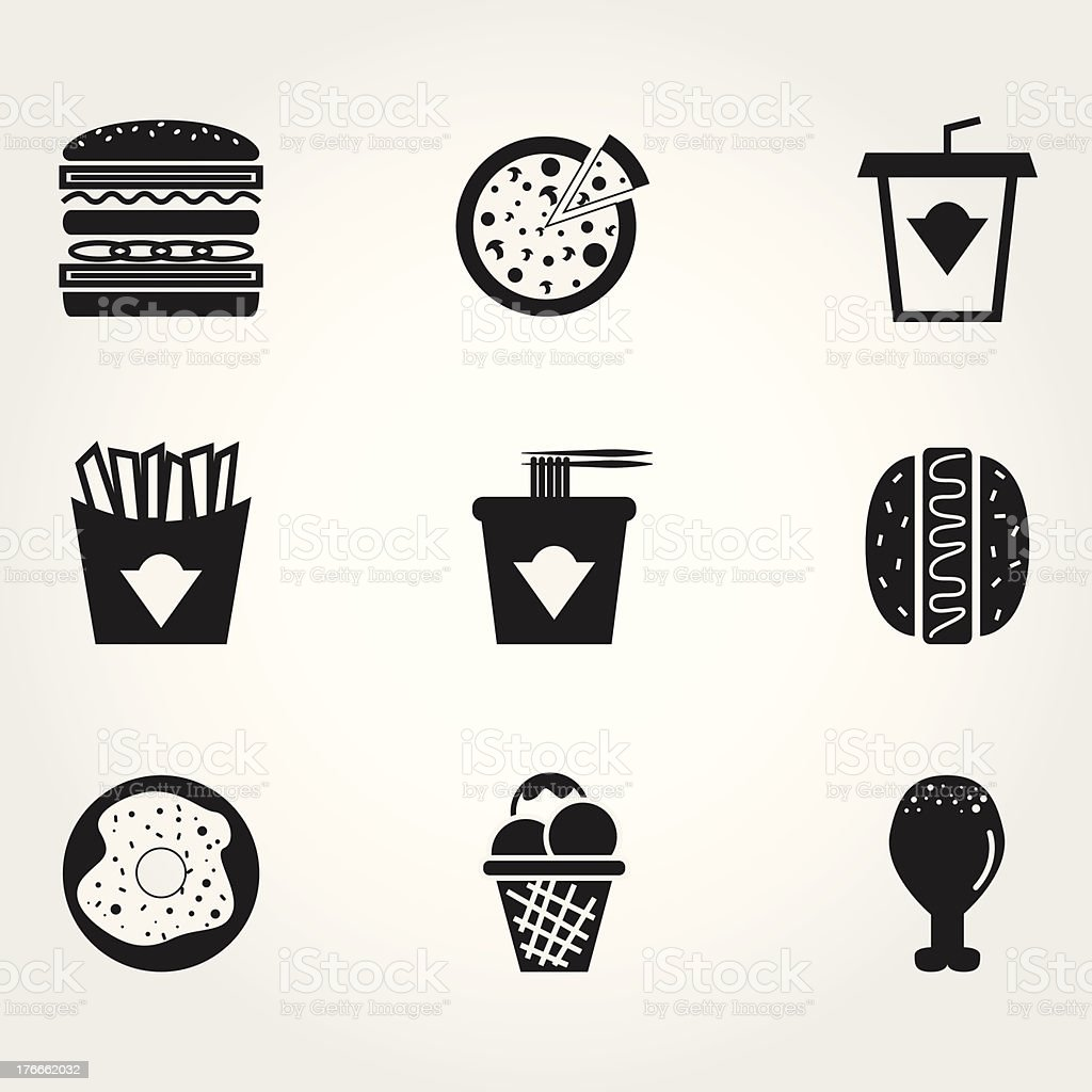 Comidas rápidas ilustración de comidas rápidas y más banco de imágenes de alimento libre de derechos