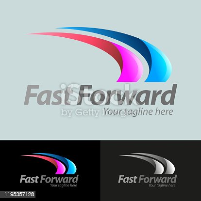 Vector abstract, fast forward symbol for logo business.
