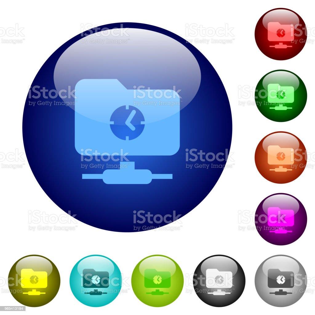 Fast FTP color glass buttons fast ftp color glass buttons - stockowe grafiki wektorowe i więcej obrazów akta royalty-free