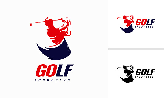 Fast Golf Logo designs, Golf Sport Silhouette Logo Design Template
