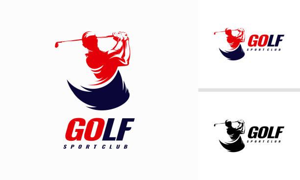 Fast Golf Logo designs, Golf Sport Silhouette Logo Design Template Fast Golf Logo designs, Golf Sport Silhouette Logo Design Template golf logo stock illustrations