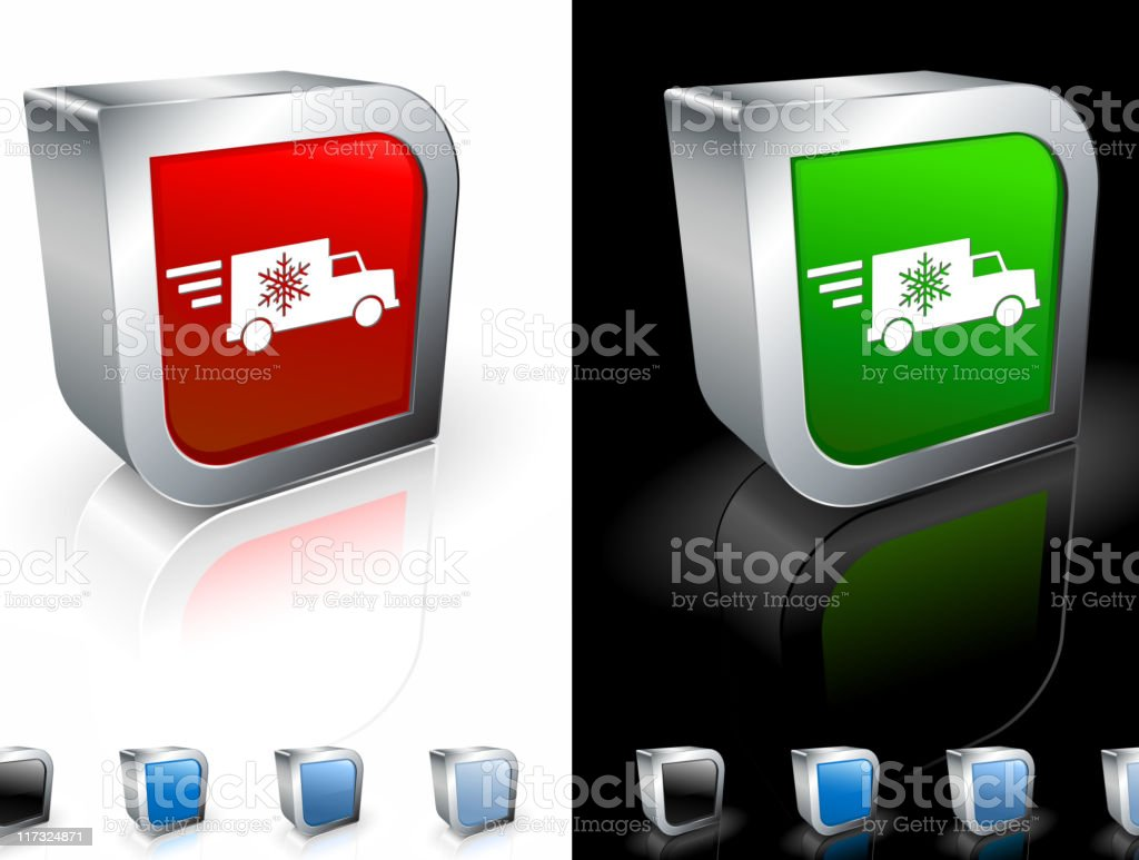 Fast holiday delivery truck 3D royalty free vector art royalty-free stock vector art