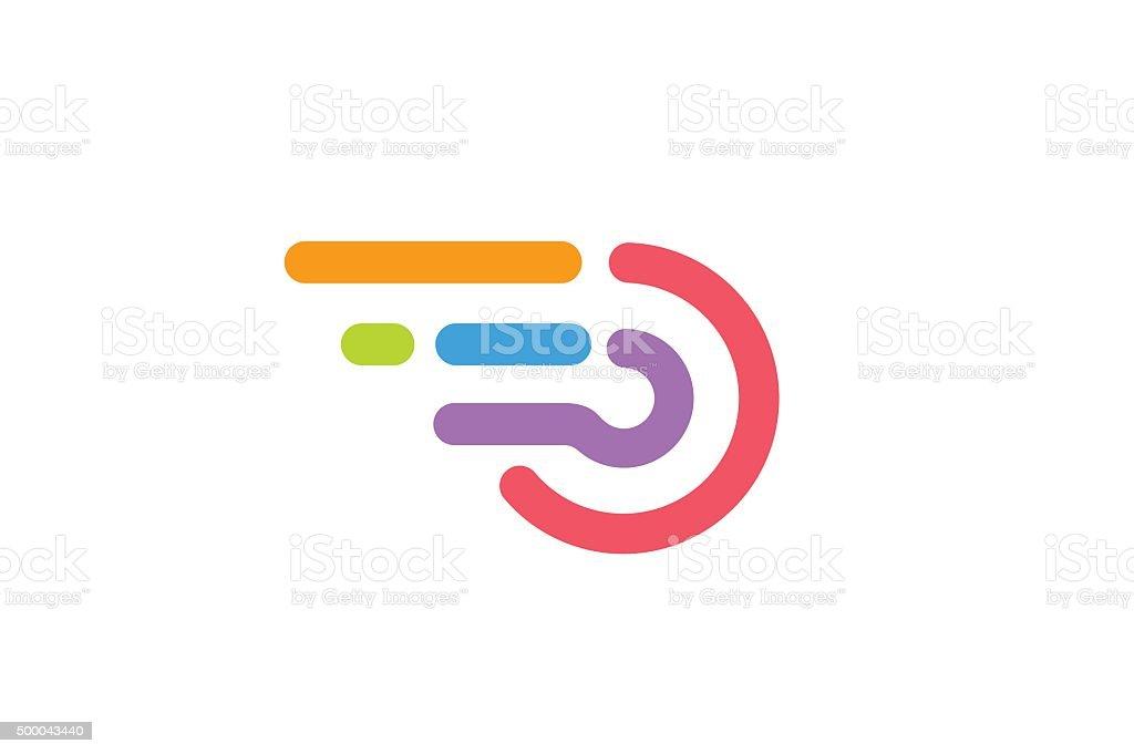 Fast line circle monogram