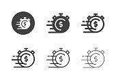 istock Fast Money Icons - Multi Series 1214212629