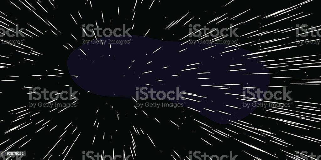 Fast Moving estrellas - ilustración de arte vectorial