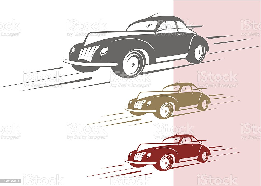 Fast Old Car Stock Vector Art & More Images of 1950-1959 455450811 ...