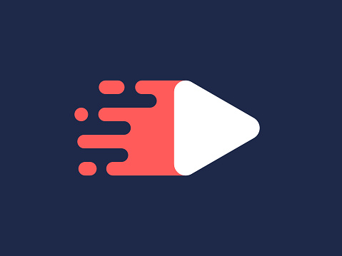 Fast Play Button Moving Logo
