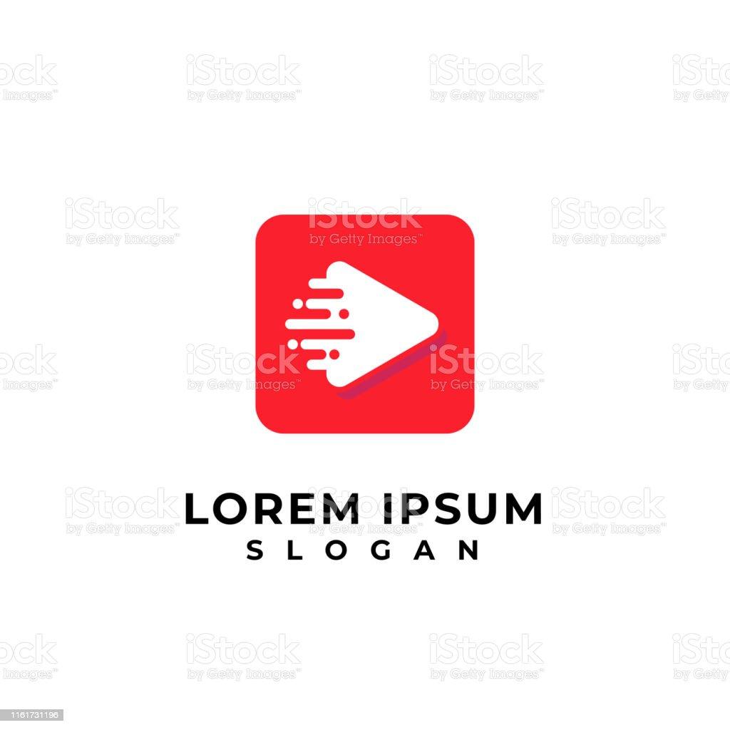 fast play media symbol design template. play icon symbol design