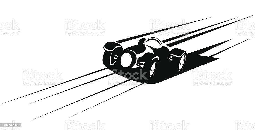 Fast racing car vector art illustration