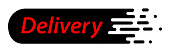 Fast shipping delivery flat vector icon for apps and websites red text delivery.