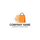 Fast shopping logo or icon