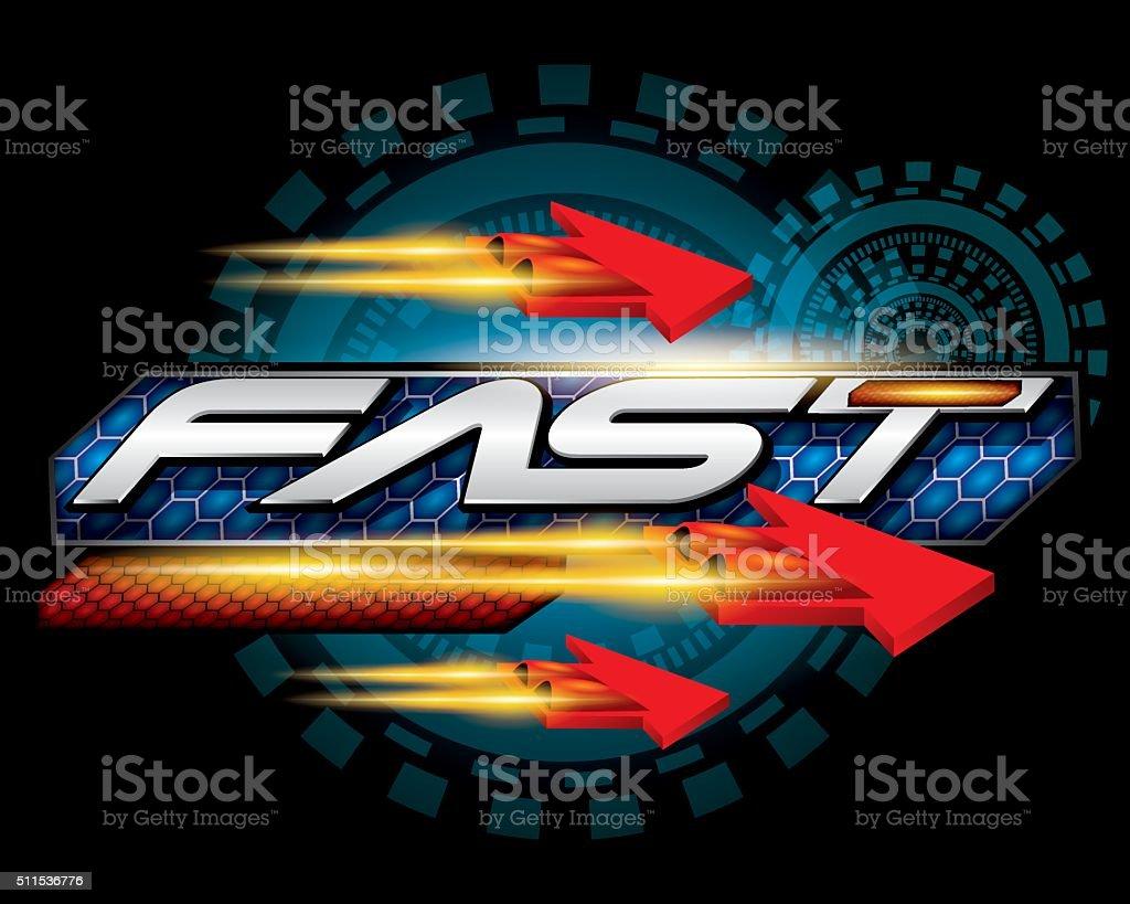 Fast speed Concept vector vector art illustration