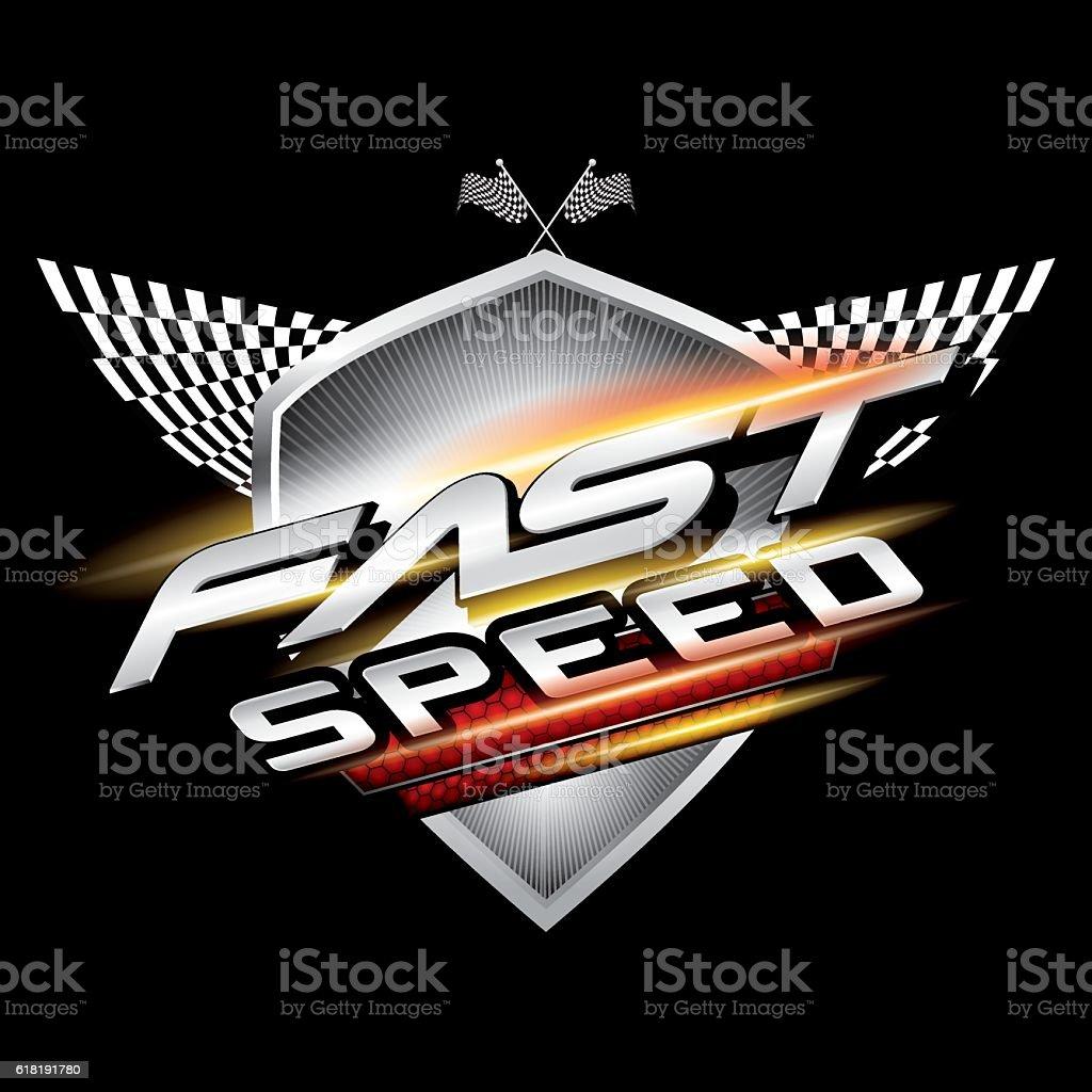 Fast speed logo concept vector. vector art illustration