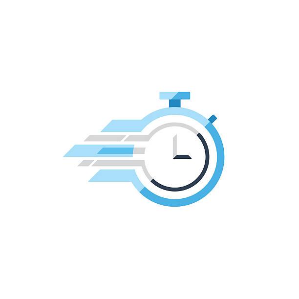 ilustrações, clipart, desenhos animados e ícones de fast time concept, rush hour logo, training session icon - esperar