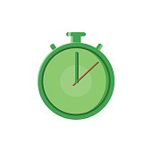 Fast Time Logo Quick Delivery Service line flat vector icon for mobile application, button and website design. Illustration isolated on white background.