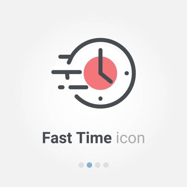 illustrations, cliparts, dessins animés et icônes de icône de vecteur de temps rapide - chrono sport