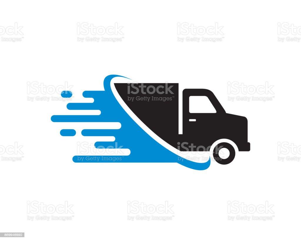 Schnelle Lkw Lieferung Symbol Vorlage Vektor Symbol Design Konzept ...