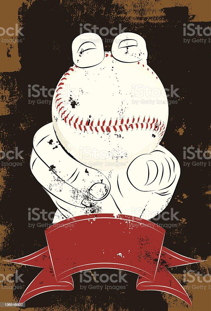 fastball grip vector art illustration