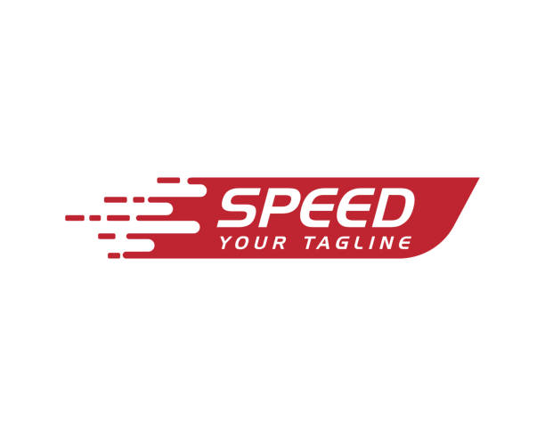 ilustraciones, imágenes clip art, dibujos animados e iconos de stock de plantilla de logotipo más rápida - velocidad
