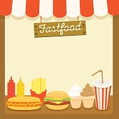 fastfood cafe menu template