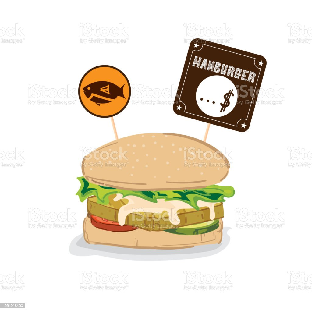 fastfood hamburger drawing graphic object - Royalty-free Beef stock vector