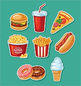 Set, Fast Food Restaurant, Eating, French Fries, Hamburger