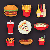 Fastfood, junk food, snack meal