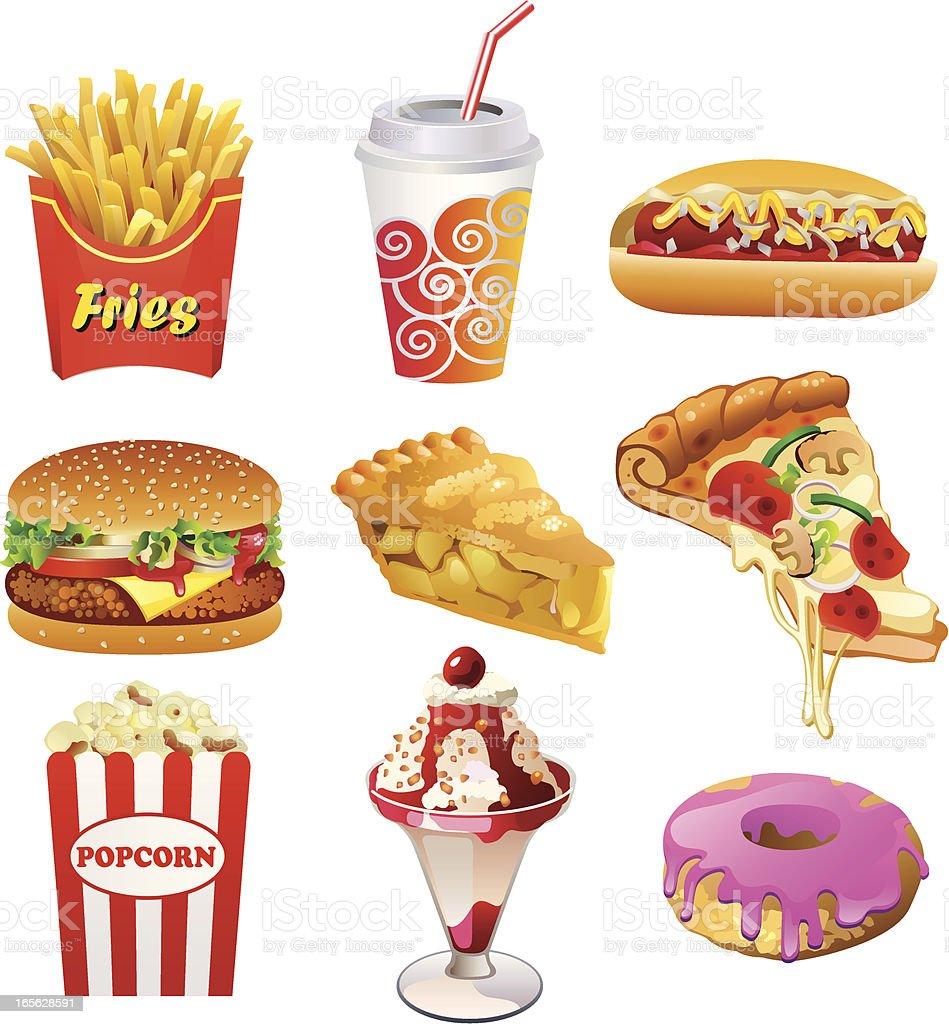 Fastfood - ilustração de arte em vetor