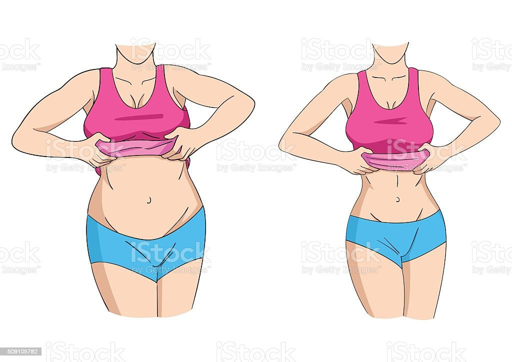 Fat And Fit vector art illustration