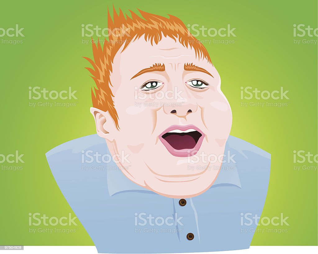 Fat Blond Guy royalty-free fat blond guy stock vector art & more images of adult