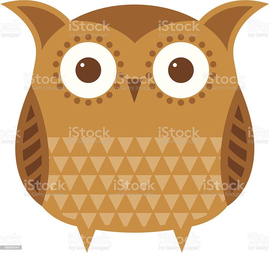 Fat brown owl royalty-free stock vector art