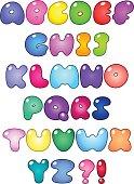 Fat bubble alphabet