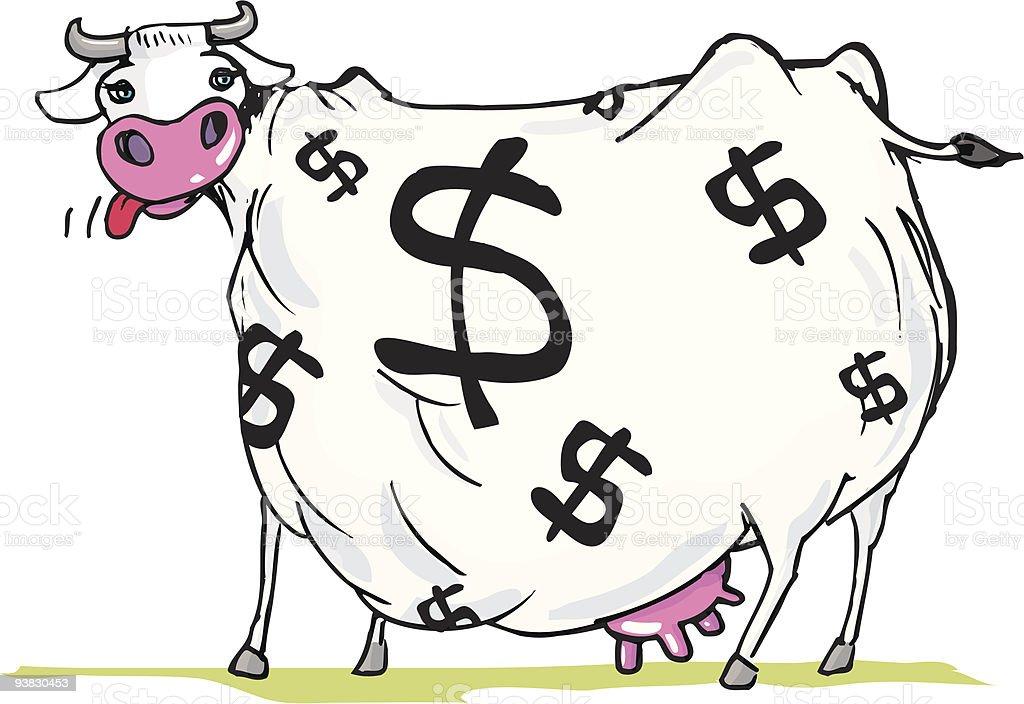 Fat Cash Cow vector art illustration