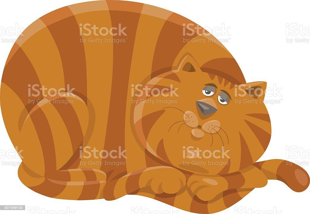 fat cat character cartoon illustration vector art illustration