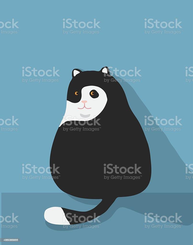 fat cat cute Illustration cute vector vector art illustration