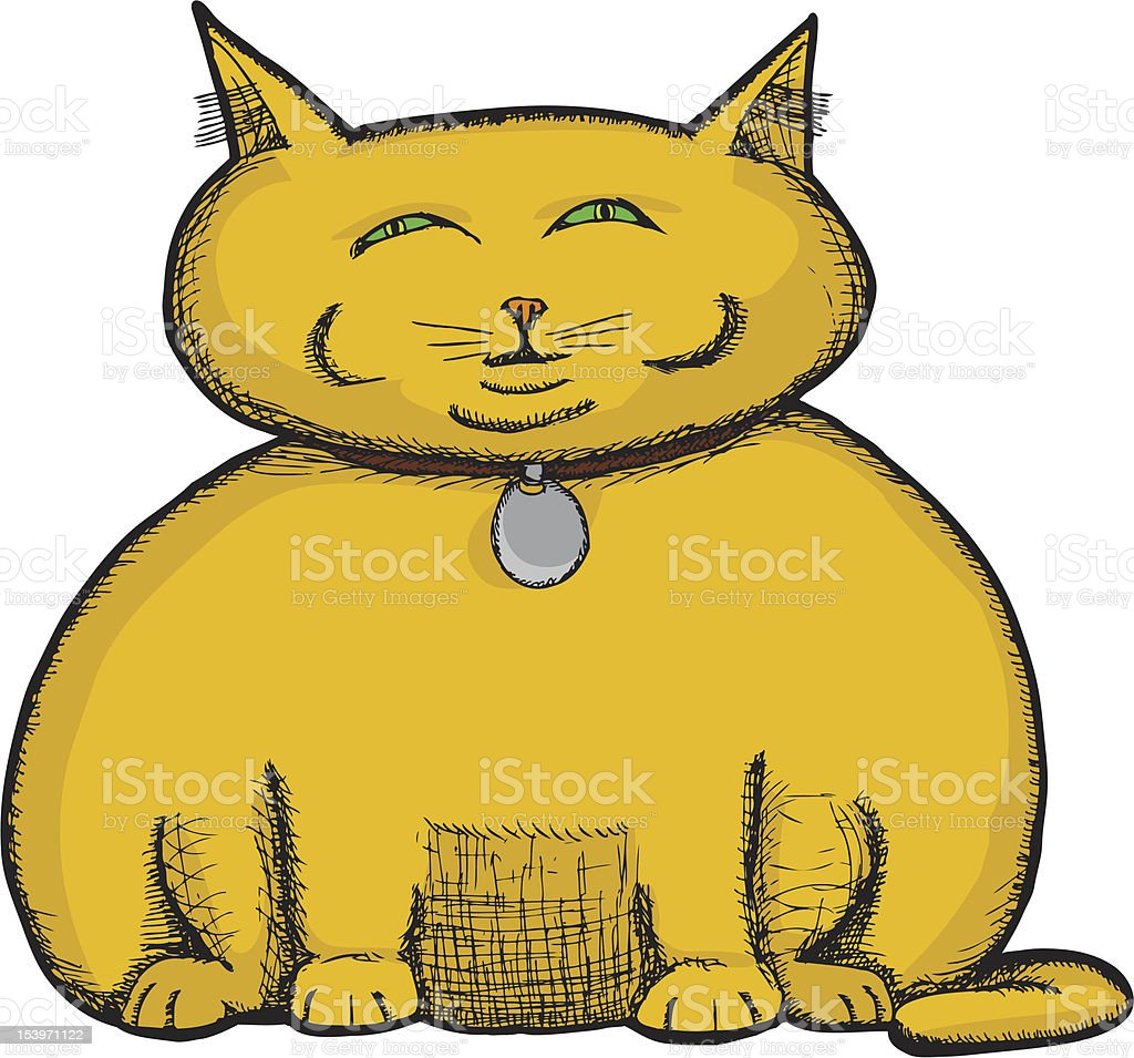 royalty free fat cat clip art vector images illustrations istock rh istockphoto com cute fat cat clipart fat cat clipart