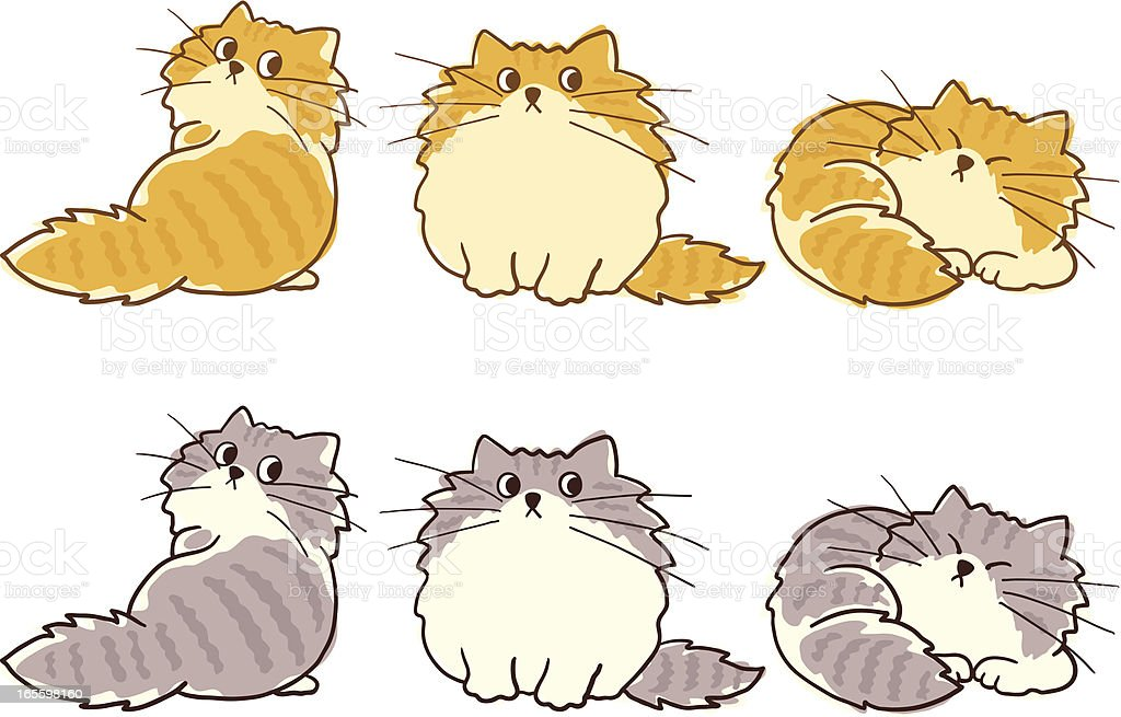 Fat cat - ilustração de fat cat e mais banco de imagens de animal royalty-free