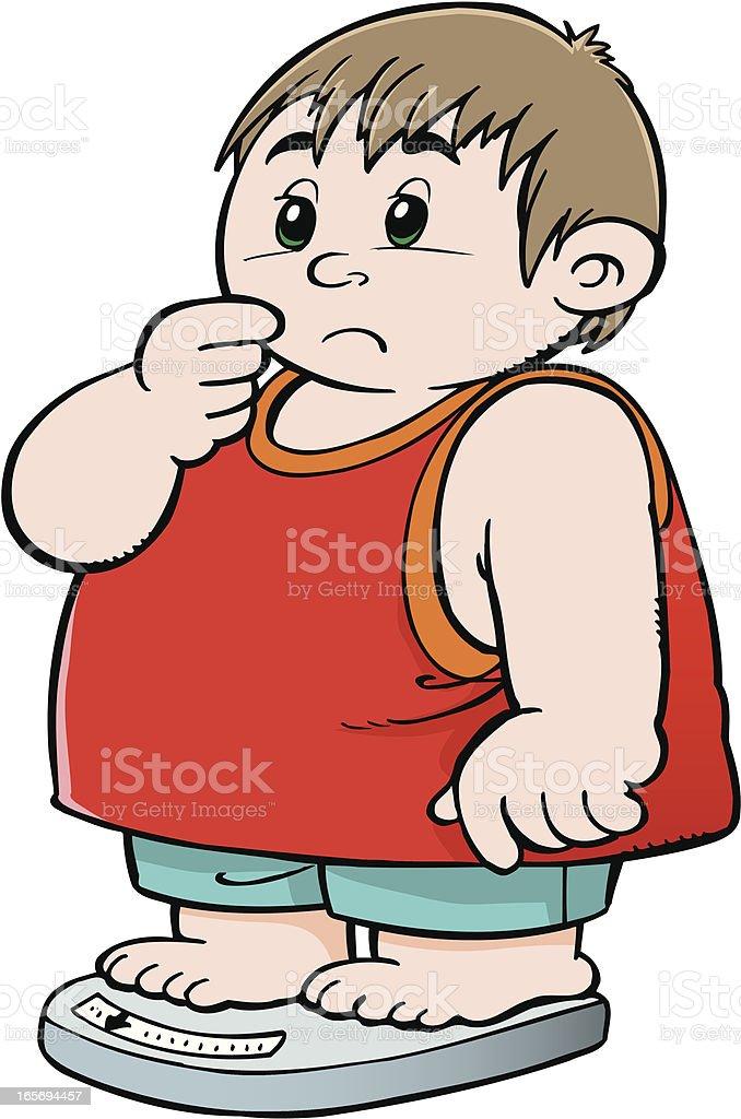 Fat child royalty-free stock vector art