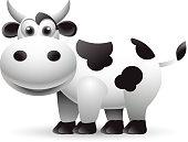 fat cow cartoon for you design