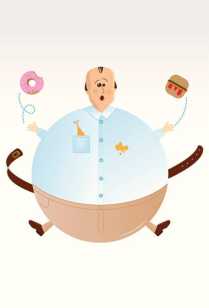 Fat food vector art illustration