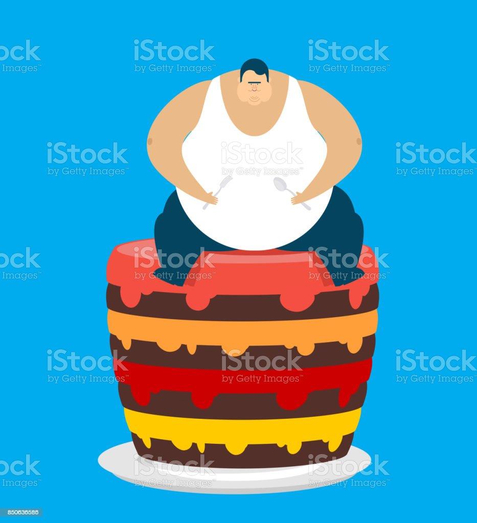 Kuchen dicker mann