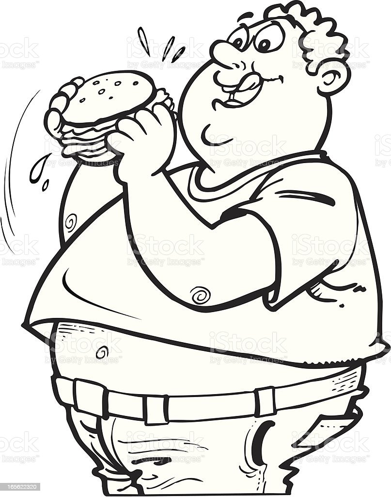Fat Guy Stock Vector A...