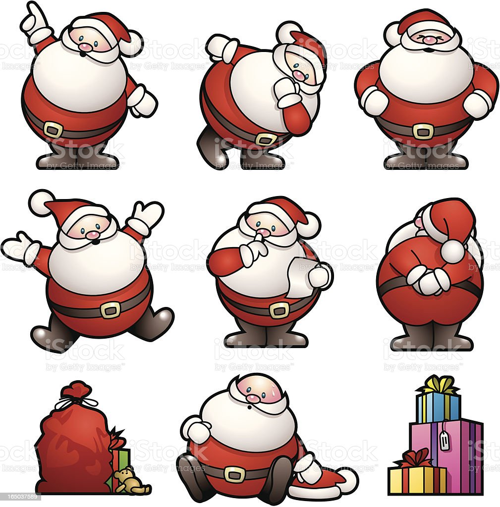 Fat Little Santas royalty-free fat little santas stock vector art & more images of arts culture and entertainment