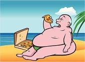 fat man beach pizza