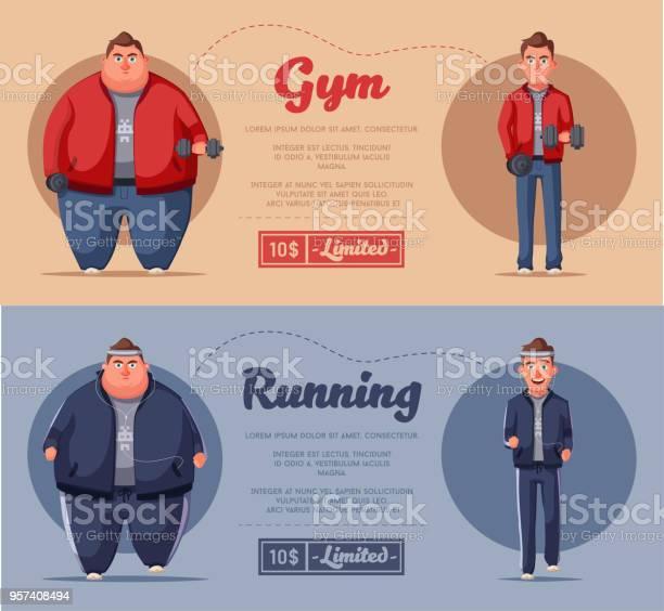 Fat man running and activity lifestyle concept cartoon vector vector id957408494?b=1&k=6&m=957408494&s=612x612&h=g0u7eqr tzaifvdhfrm2g h32bzeajbttdxsvdprwyy=