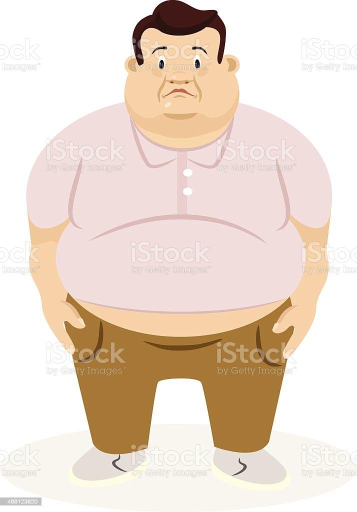 Fat man. Vector flat illustration vector art illustration