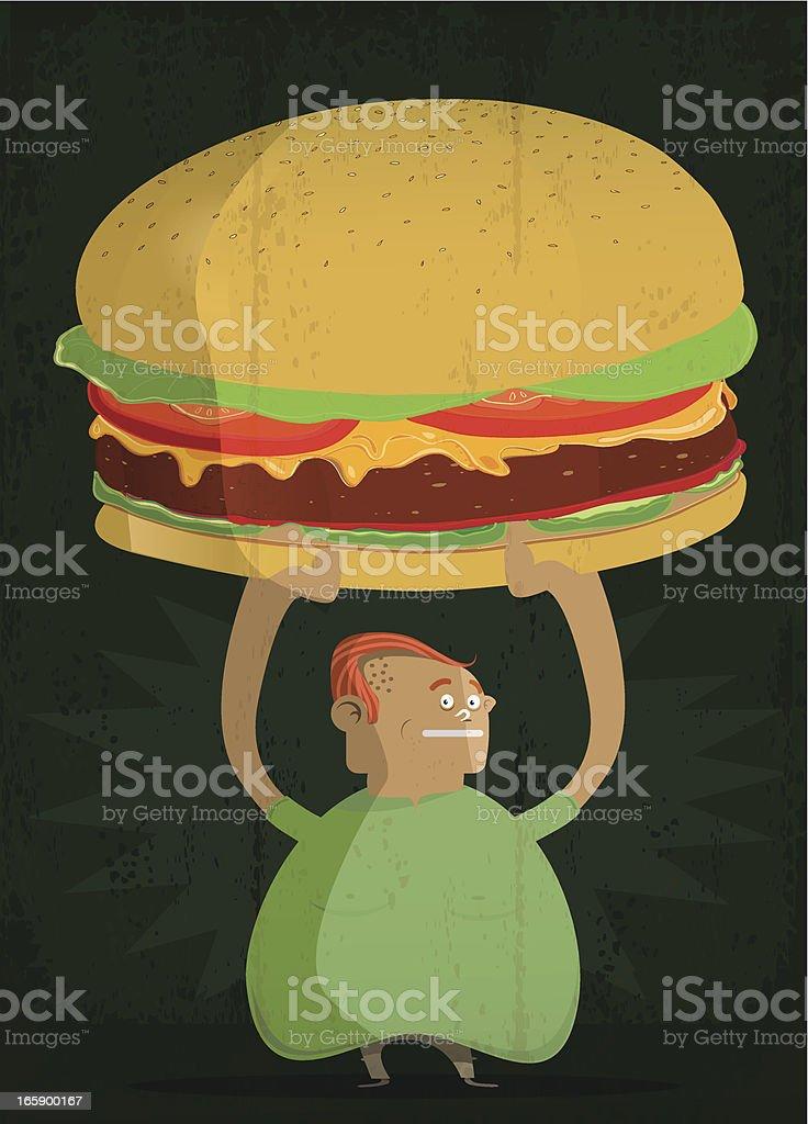 Fat man royalty-free stock vector art