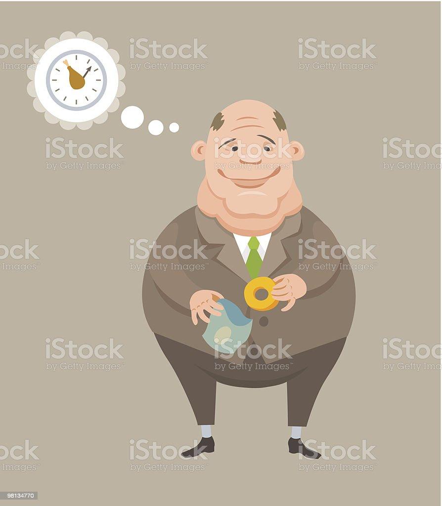 fat man fat man - immagini vettoriali stock e altre immagini di abbigliamento da lavoro royalty-free
