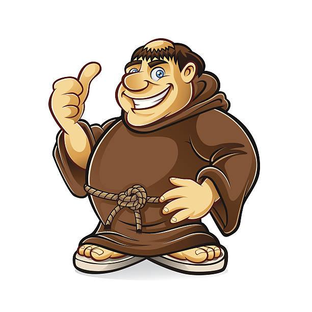 ilustraciones, imágenes clip art, dibujos animados e iconos de stock de grasa monje - hermano